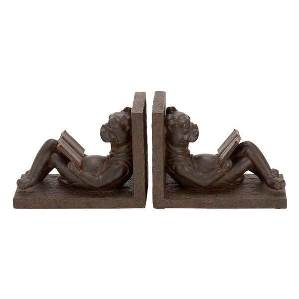 Polystone Bookends (Set of 2) by Cole & Grey