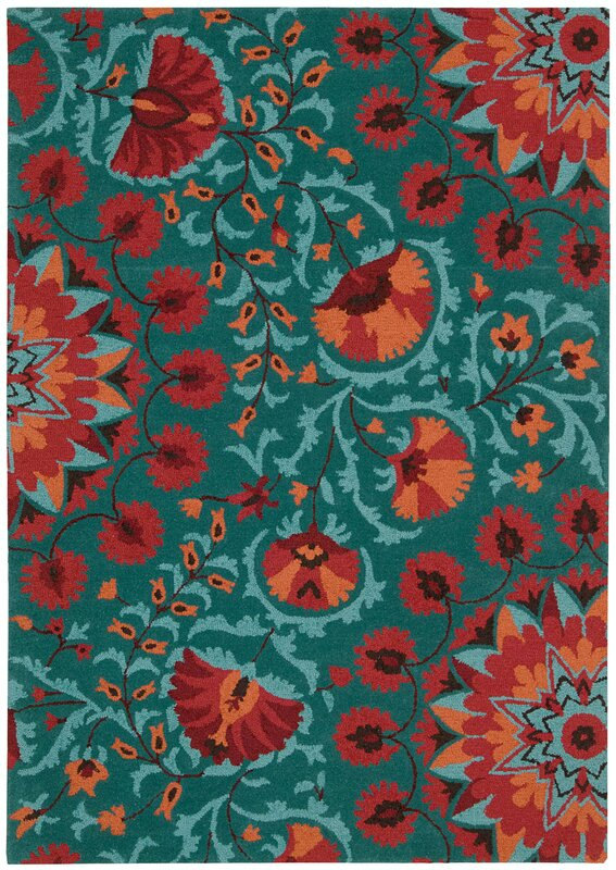 teal and red rug - rug designs