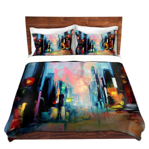 Faces Of The City Duvet Cover Set