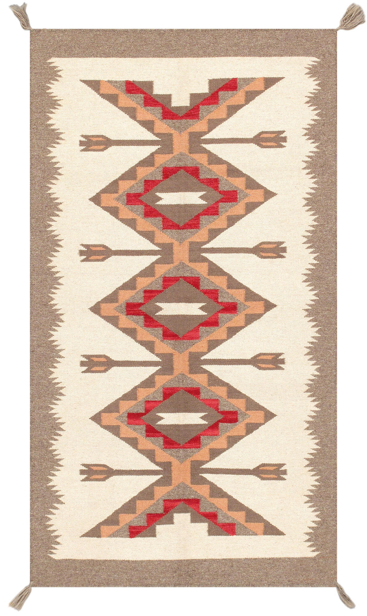 Southwestern Handmade Flatweave Wool