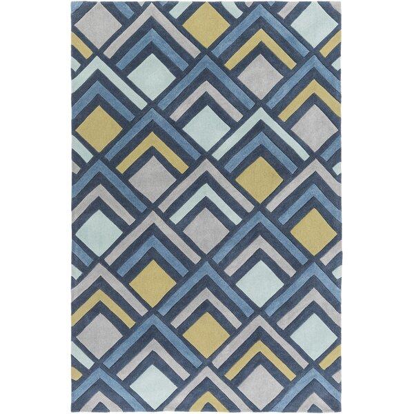 Mcgray Hand-Tufted Blue Area Rug by Brayden Studio