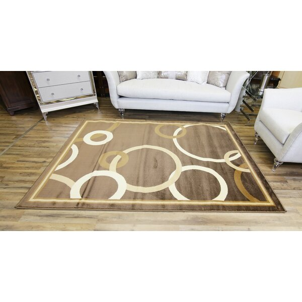 Passion Brown/Beige Area Rug by Beyan Signature