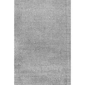 Marcelo Flat Woven Cotton Gray Area Rug