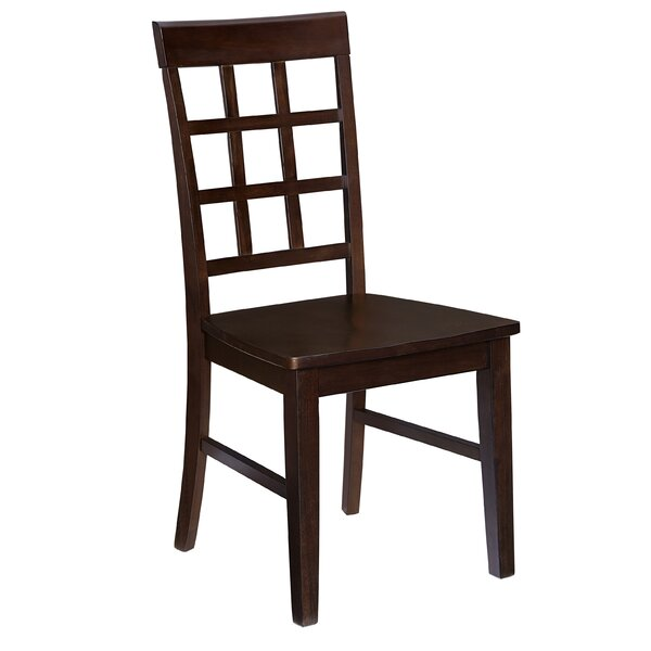 Upshaw Window Pane Solid Wood Dining Chair (Set of 2) by Gracie Oaks