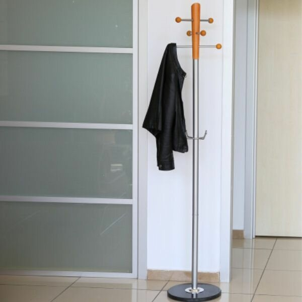 Espana Metal Tube and Marble Base Ladder Coat Rack by Ebern Designs