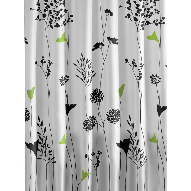 Marvelous Asian Lily Cotton Shower Curtain