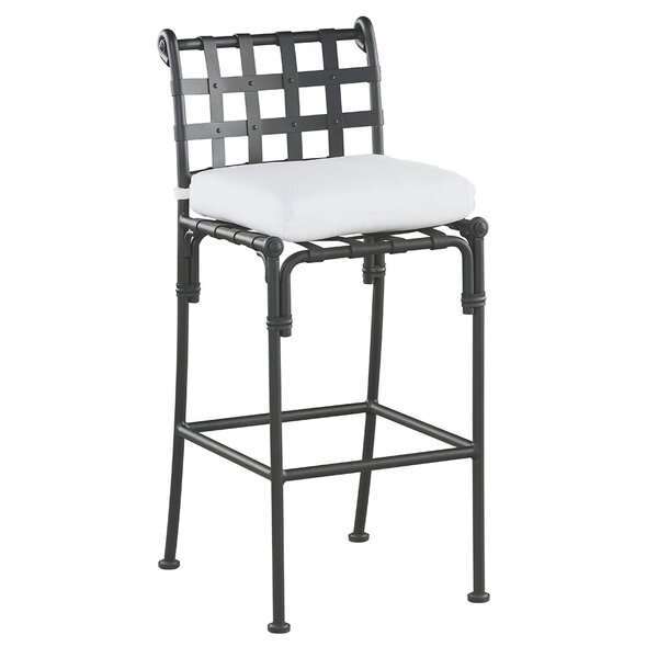 Aikens Patio Bar Stool with Cushion by One Allium Way