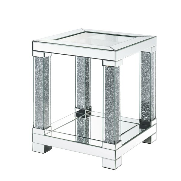 Marone Faux Diamonds End Table by Rosdorf Park Rosdorf Park