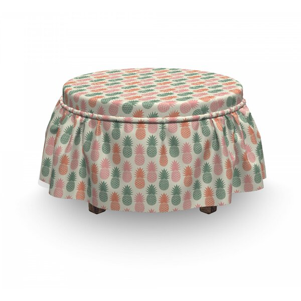 Pineapple Ottoman Slipcover (Set Of 2) By East Urban Home