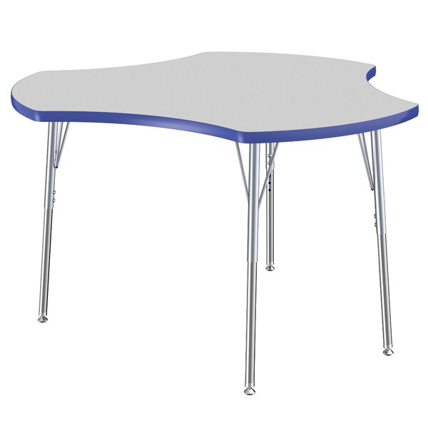 Cog Thermo-Fused Collaboration Contour Adjustable 44.5 x 48 Novelty Activity Table by ECR4kids