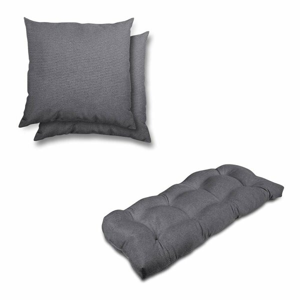 Eco-Friendly Indoor/Outdoor Sunbrella Bench Cushion and Pillow Set