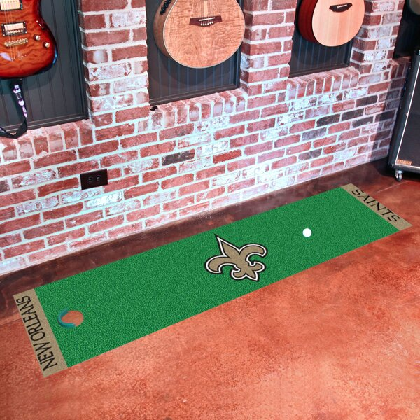 NFL New Orleans Saints Putting Green Mat by FANMATS
