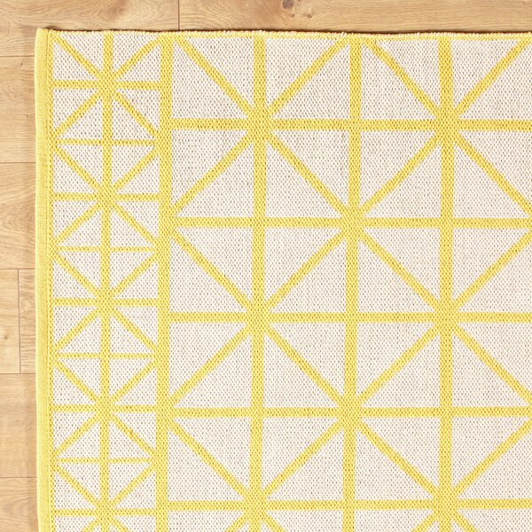 Tri Your Best Yellow Reversible Rug by Birch Lane Kids™
