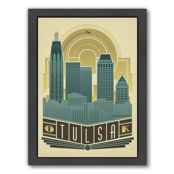 Tulsa Deco Skyline Framed Vintage Advertisement by East Urban Home