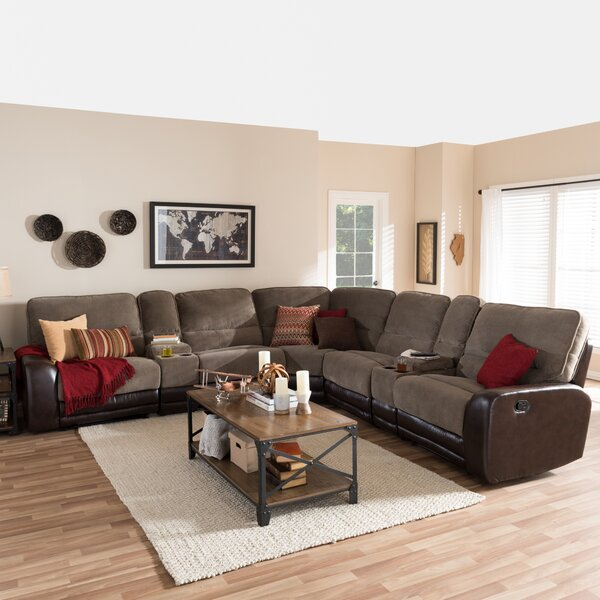 Cheapest Price For Carnegie Symmetrical Reclining Sectional by Red Barrel Studio by Red Barrel Studio