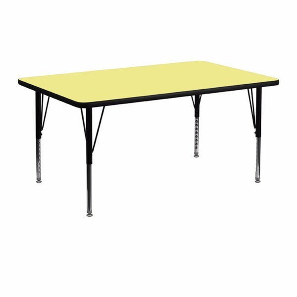Thermal Fused Laminate Top Rectangular Activity Table by Offex