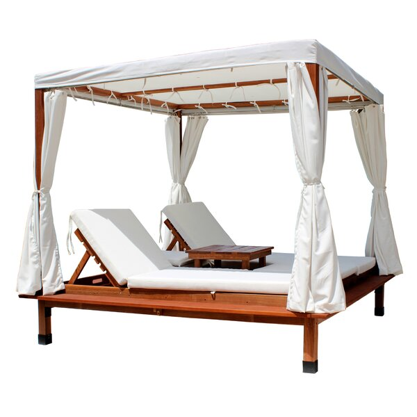 Cabana Sun Lounger Set with Cushions and Table by Leisure Season