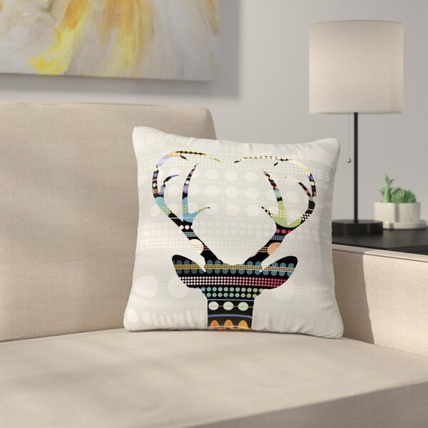 Angelo Cerantola Pop Deer Outdoor Throw Pillow by East Urban Home