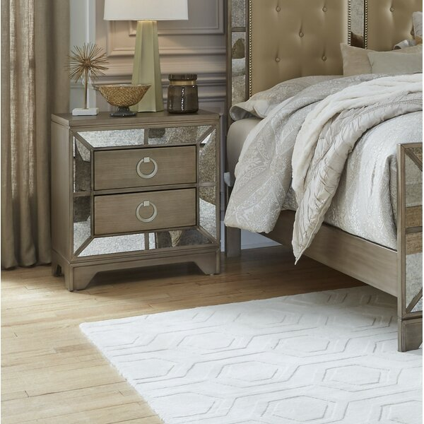 Faribault 2 Drawer Nightstand by Everly Quinn