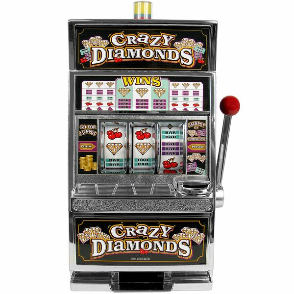 Crazy Diamonds Slot Machine Bank - Authentic Replication by Trademark Global
