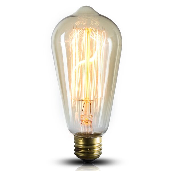 40W Incandescent Vintage Filament Light Bulb (Set of 4) by Crystal Art Gallery