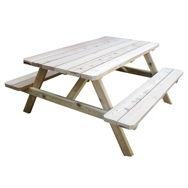 Connerton Cedar Picnic Table by Rosecliff Heights