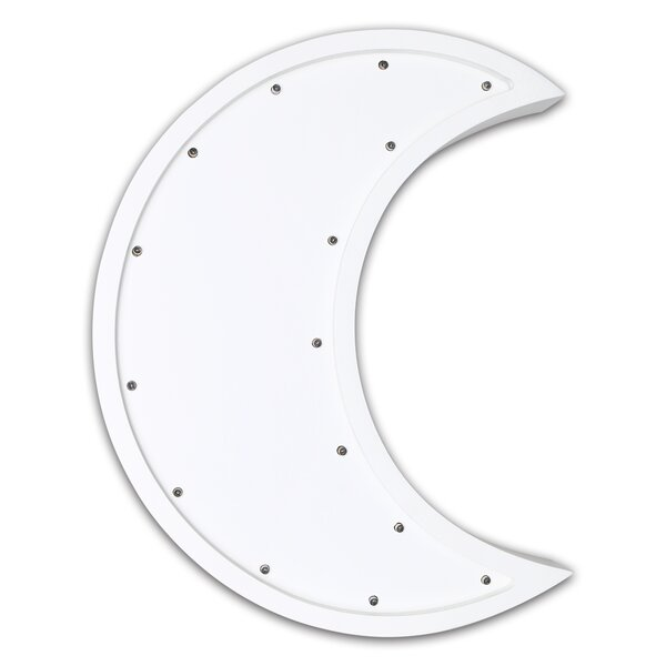 Moon Marquee Wall Light by The Peanut Shell