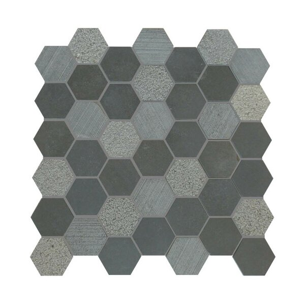 Natural Stone Mosaic Tile in Black by QDI Surfaces