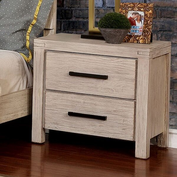 Quinley 2 Drawer Nightstand by Union Rustic