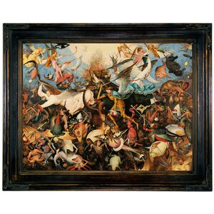 'The Fall of the Rebel Angels 1562' Framed Print on Canvas by Historic Art Gallery