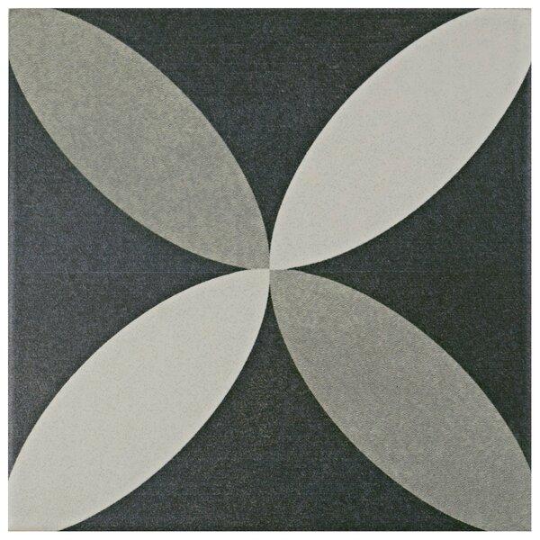 Forties 7.75 x 7.75 Ceramic Field Tile in Petal Gray by EliteTile