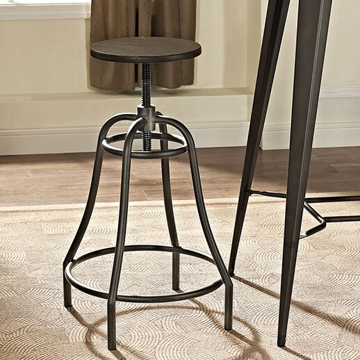 Adjustable Height Bar Stool by Modway