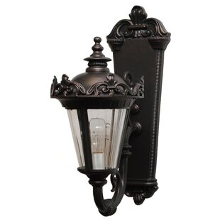 Compare prices Petrey 1-Light Outdoor Sconce By Alcott Hill