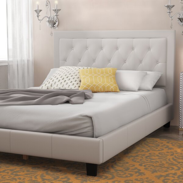 Dinis Diamond Headboard Upholstered Platform Bed by Willa Arlo Interiors