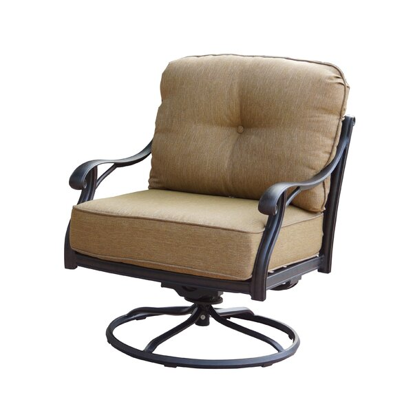 Lincolnville Rocker Swivel Recliner Patio Chair with Cushions (Set of 4) by Fleur De Lis Living