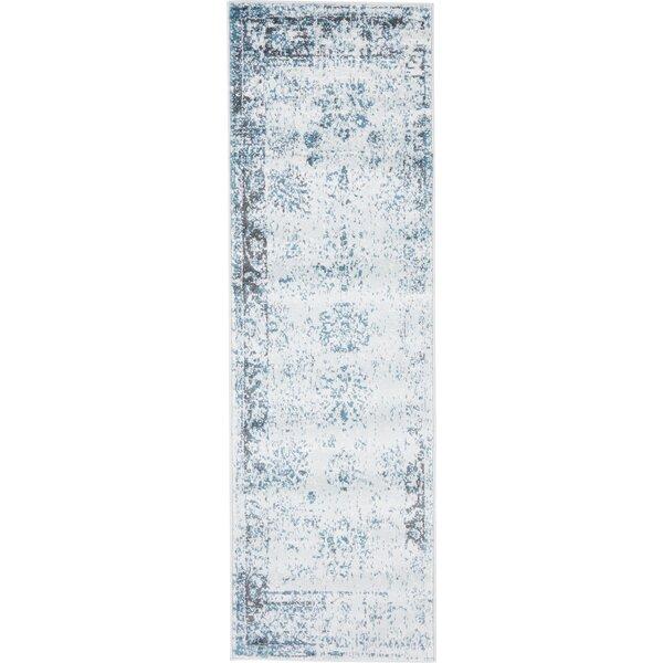 Brandt Light Blue/Ivory Area Rug by Mistana
