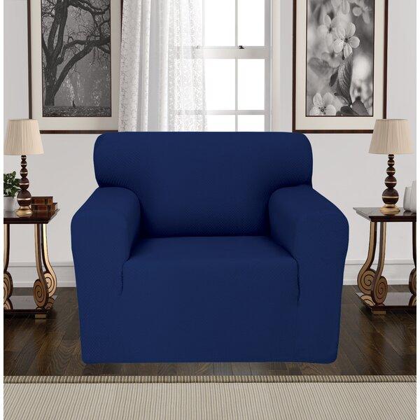 Anti-Slip Spandex Elastic Stretch Box T-Cushion Armchair Slipcover By Rebrilliant
