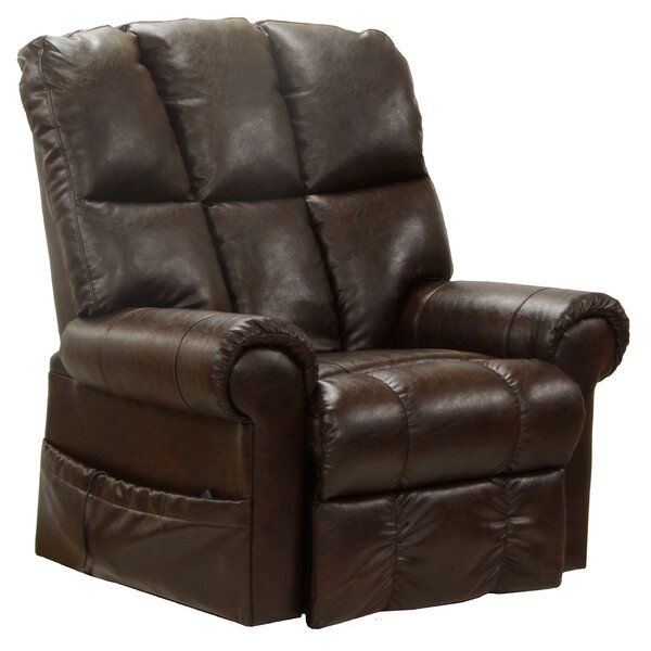 Colquitt Full Lay-Out Power Lift Assist Recliner Red Barrel Studio W000664024