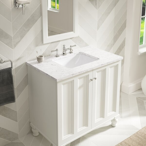 Caxton Ceramic Rectangular Undermount Bathroom Sink with Overflow by Kohler