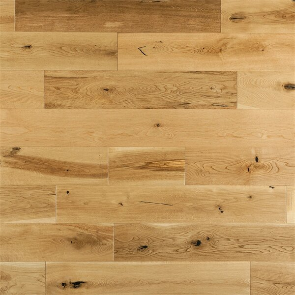 Corinne French 6 Solid Oak Hardwood Flooring in Natural by Welles Hardwood