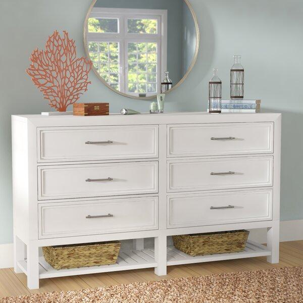 Elosie 6 Drawer Double Dresser by Beachcrest Home
