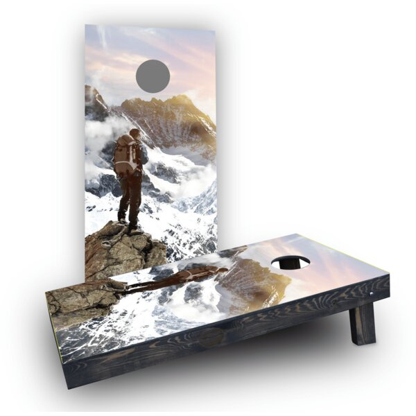 Mountain Climber Cornhole Boards (Set of 2) by Custom Cornhole Boards