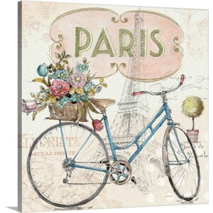 'Paris Forever III' by Lisa Audit Textual Art on Wrapped Canvas by Great Big Canvas