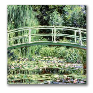 White WaterLillies, 1889 by Claude Monet Painting Print on Canvas by Trademark Fine Art