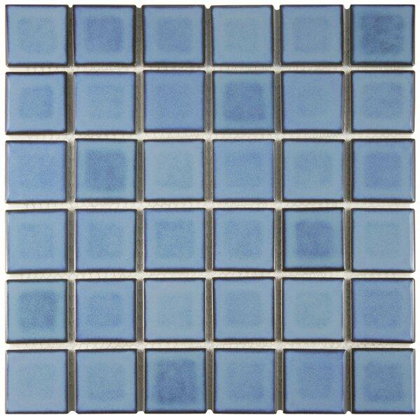 Arthur 2 x 2 Porcelain Mosaic Tile in Blue by EliteTile