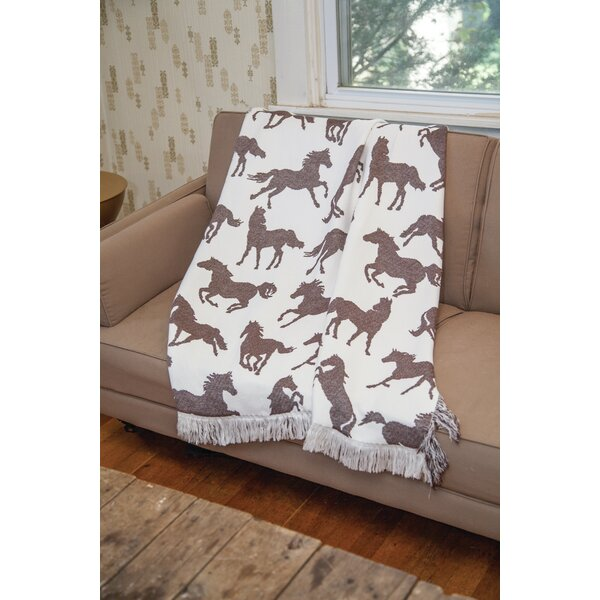 Horses Throw by Manual Woodworkers & Weavers