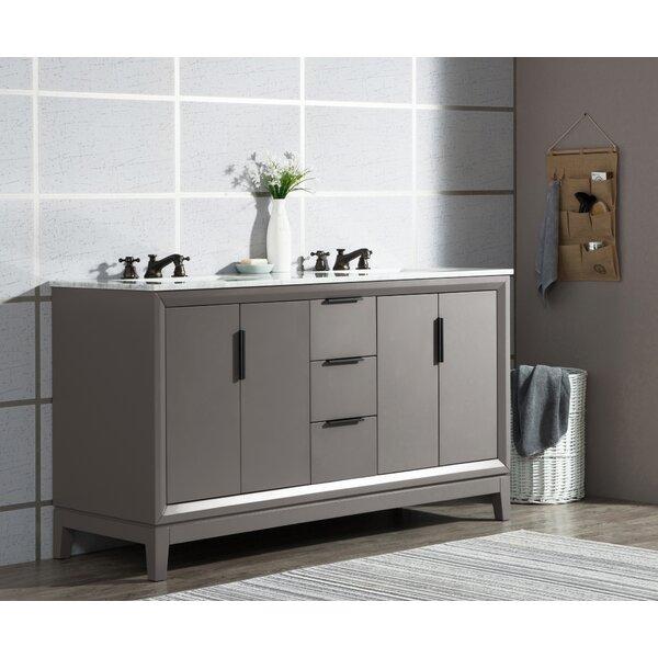 Tappahannock 60 Double Bathroom Vanity Set with Mirror