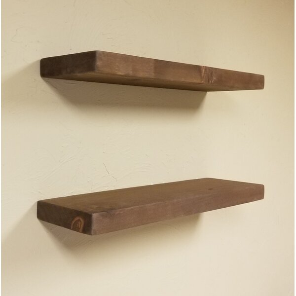 Brooks Wood Floating Shelf (Set of 2) by Millwood Pines