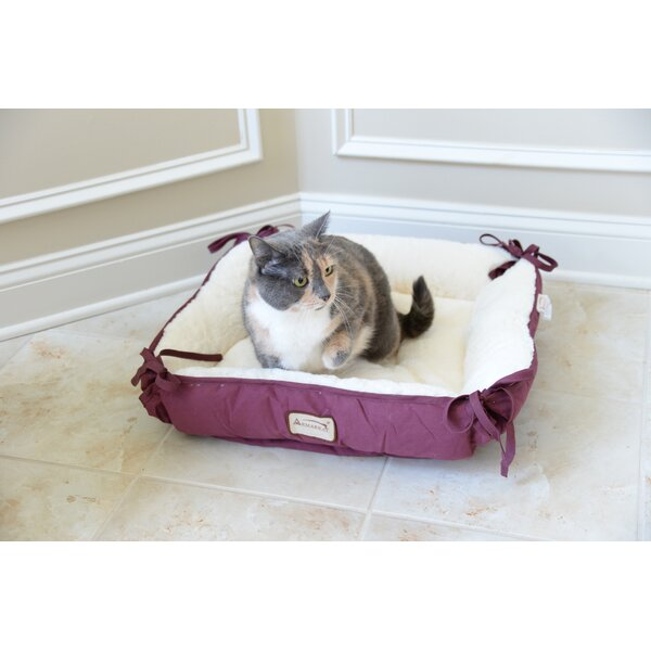 Cat Bed in Burgundy and Ivory by Armarkat