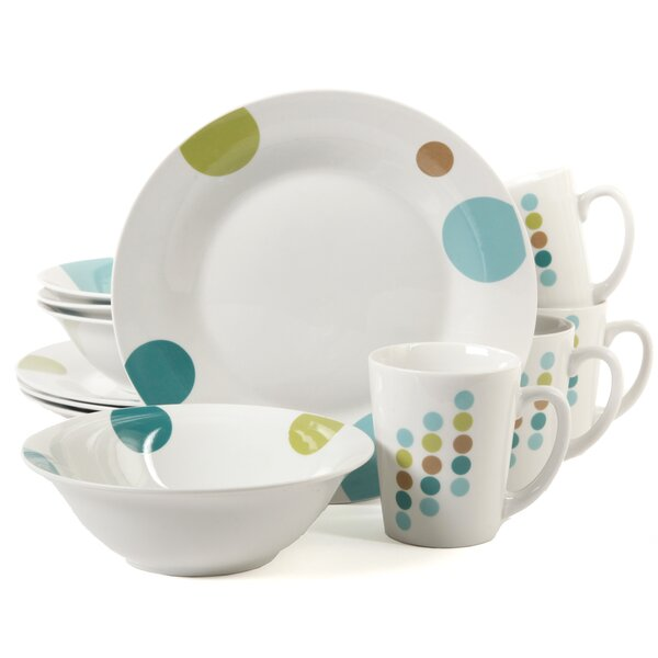 Buchman Retro Specks 12 Piece Dinnerware Set, Service for 4 by Latitude Run